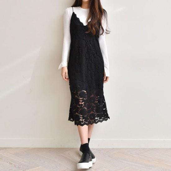 オーサムマシューVフラワーレースワンピース233908 シフォン/レースのワンピース/ 韓国ファッション