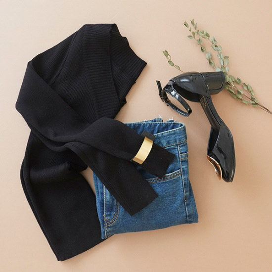 ブルランチョVネク・ニットシャツkn00990 ニット/セーター/ニット/韓国ファッション