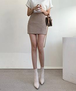✨DRESSCAFE✨[韓国ファッション] ♥ Limited item! ♥ ウール 厚手 クリーミー ミニスカート