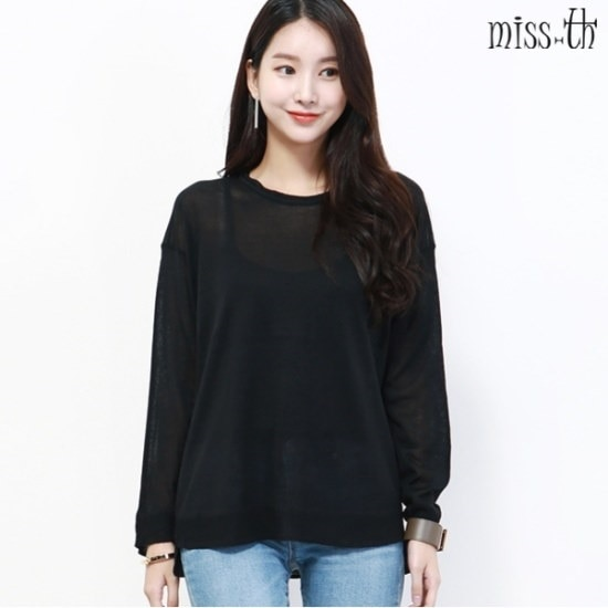 ミスティーに一ルーズフィットラウンドニット ニット/セーター/ニット/韓国ファッション
