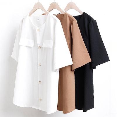 ビッグサイズの女性服2752L807チャーリーポケットブラウスPS韓国の人気商品大きな服ファッション