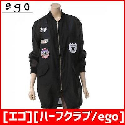 [エゴ][ハーフクラブ/ego]ワペン装飾マッシュロングジャンパーERBJU301 /風防ジャンパー/ジャケット/韓国ファッション