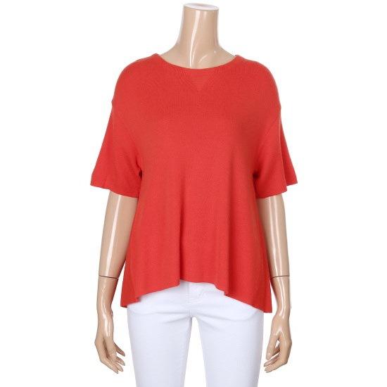 ベネトンカラー感が華やかな半袖丸首ニットBAKP52731 ニット/セーター/韓国ファッション