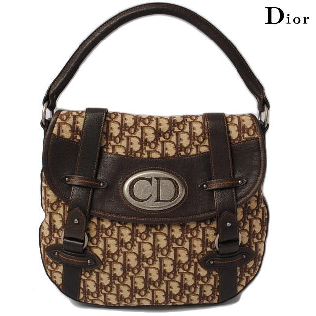 クリスチャン ディオール Christian Dior ショルダーバッグ  ヴィンテージライン/ブラウン【中古】