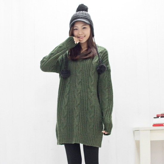 クッキーセブンP0231ビッグツイストロング・ニット ニット/セーター/ニット/韓国ファッション