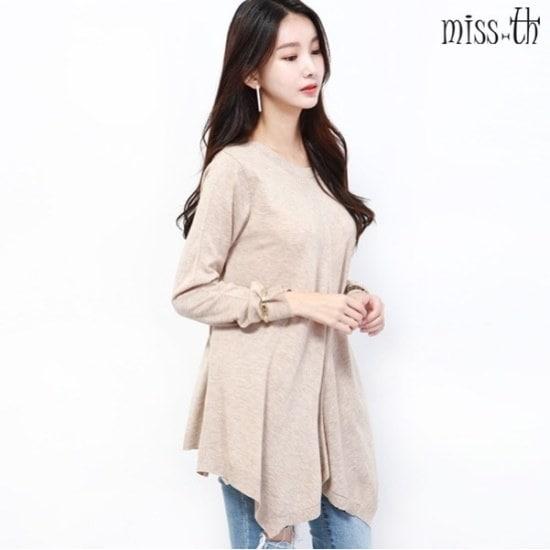 ミスティーに一フリルラウンドニット ニット/セーター/ニット/韓国ファッション