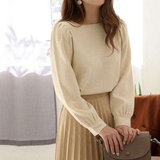 チェリーココella bonice、knitC709PHKN90秋ニットオートミールスクエアネック ニット/セーター/韓国ファッション