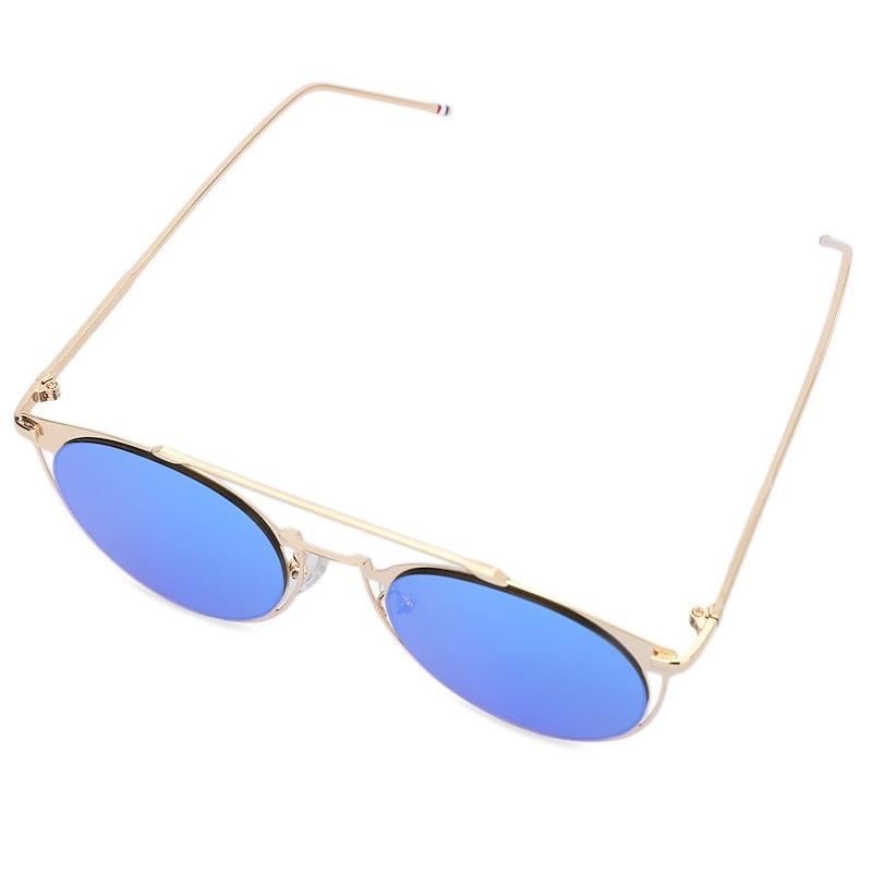 スタイリッシュなカラーコーティング金属フレームユニセックス中空デザインサングラス