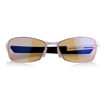 Arozzi Visione VX-500コンピュータゲーム用メガネ - アンチグレア、UVおよび青色光の保護、アイストレインリリーフ、快適なゲーム、ホワイト
