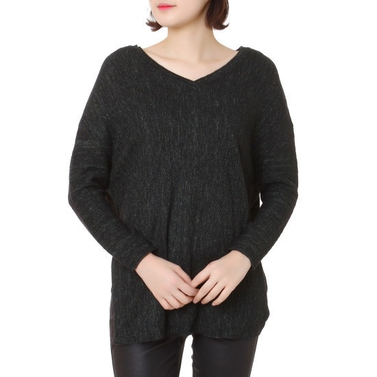 ボブ衣類輩志乃ニート71154 50109 ロングニット/ルーズフィット/セーター/韓国ファッション