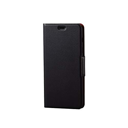 エレコム Galaxy Feel2 ケース SC-02L 手帳型 レザー ウルトラスリム ICカード収納 サイドマグネットフラップ スタンド機能付き ブラック PD-SC02LPLFUBKブラック