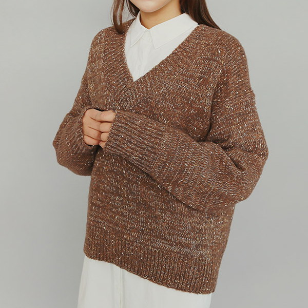 ★FREE SHIPPING★ IM3 V-Neck Knit / Korean Fashion / 4 Color / Daily Knit Sweater