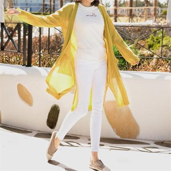 ペッパーサイドスリットオープンロングカディゴン20647 女性ニット/カーディガン/韓国ファッション