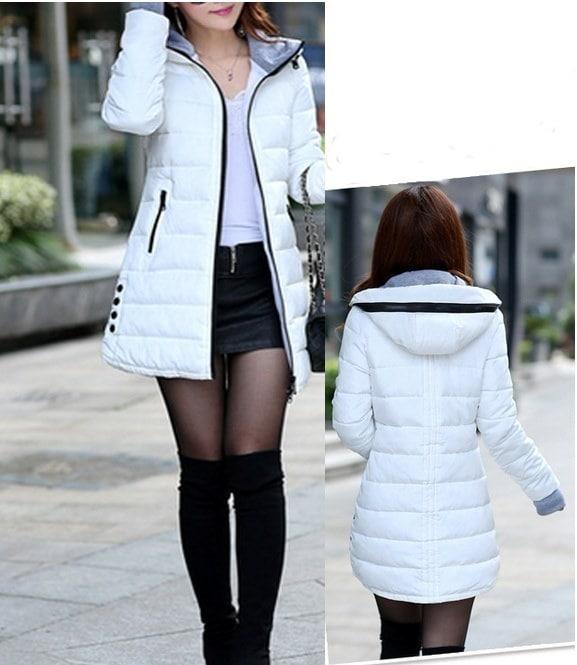 ロングスタイルの女性のジャケットのファッションスリムぬくもり冬のダウンコート