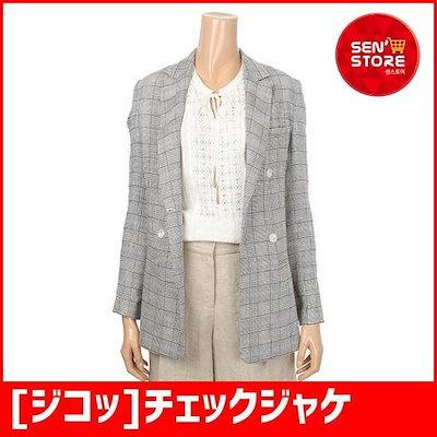 [ジコッ]チェックジャケット(7218210081) /ジャケット/リネン/麻ジャケット/韓国ファッション