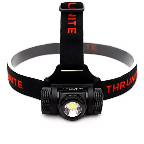 ThruNite TH01 ヘッドライト スーパーブライト 充電式LEDヘッドランプ 1100mAh 18350充電池使用 明るさ最大1500ルーメン/IPX-8防水/軽量