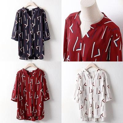 韓国ファッション大きいサイズCOノーマルチャイナブラウス(2819H807)ビッグ女性服ロングルーズフィット korea fashion bigsize