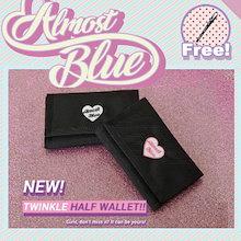 【ネックスタラッ無料ププレゼント】【ALMOSTBLUE】 TWINKLE HALF WALLET レディース 財布 人気ブランド可愛い カード収納 大容量