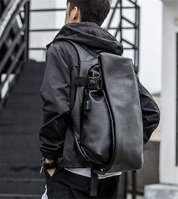 合わせやすい服で 2020 レザー バックパック メンズ 大容量 デイバッグ  シンプル トラベルバッグ コンピューター リュックサック ファッション 韓国 学院風 スクールバッグ