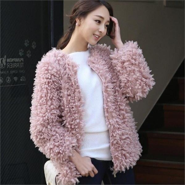 ユニークなルーズフィットポグリロングジャケットOTG374 女性のジャケット / 韓国ファッション/ジャケット/秋冬/レディース/ハーフ/ロング/