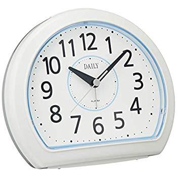 リズム時計 クォーツ 目覚まし時計 アナログ デイリー R550 電子音 見やすい クッキリ文字 白 DAILY (デイリー) 4SE550DN04