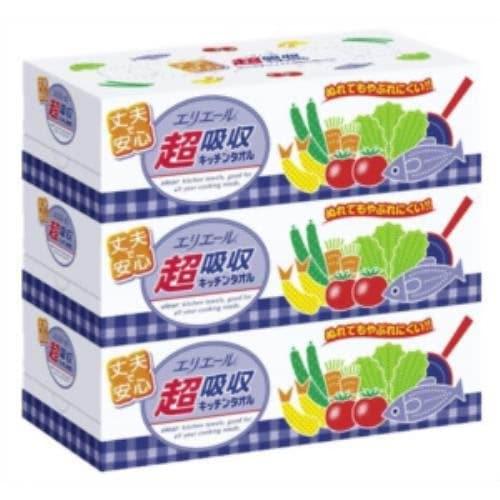 エリエール 超吸収キッチンタオルBOX 1パック(3個入) 製品画像