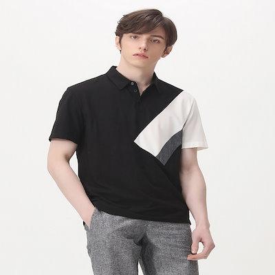 [SAY公式ストア][BASIC HOUSE]面講演ブロック配色ポロシャツHTTS3123