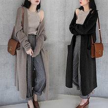 新しいスタイル、カジュアルセーター、ワンピース ロングセーター 長袖 韓国ファッション