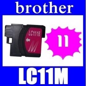 ★リニューアル値下げしました!★即日発送/安心1年保証 ブラザー(brother) LC11シリーズ 【単品】LC11M(マゼンタ) 新品互換インクカートリッジ 関連商品:LC11BK LC11C
