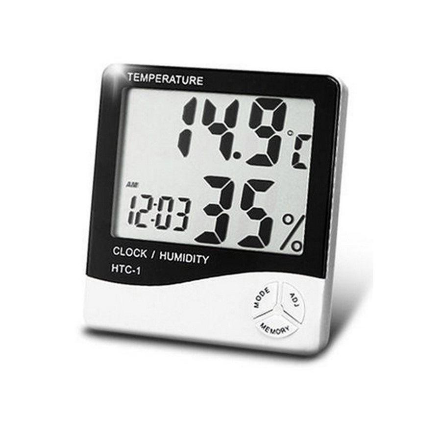 【メール便送料無料】デジタル温湿度計 湿度計 温度計 アラーム 温度 測定器 カレンダー 目覚まし時計 5つの機能の壁に取り付け 計測 検査