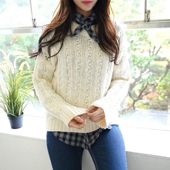 ハチミツデー世楽、ニットHN7F231KNC ニット/セーター/ニット/韓国ファッション