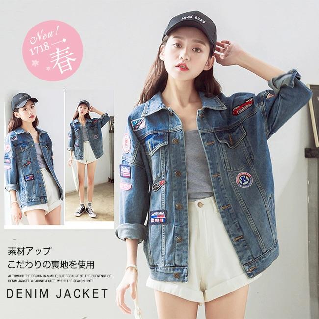 デニムジャケット レディース Gジャン アウター カジュアルStyleアウター■ストレッチジージャン 韓国ファッション 長袖 ベーシック