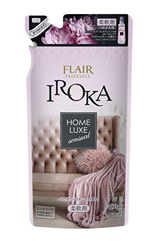 フレアフレグランス 柔軟剤 IROKA(イロカ) HomeLuxe(ホームリュクス) パウダリーピオニーの香り 詰め替え 480ml詰替