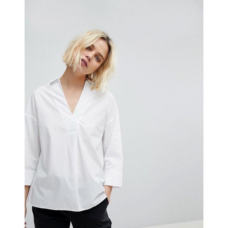 ホイッスルズ レディース トップス ブラウス・シャツ【Whistles Lola Shirt】White