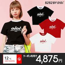 [O!Oi] 5252 by O!Oi Serif Logo Crop T-Shirts 韓国 正規品 オアイオアイ Tシャツ 半袖 SNSで話題 送料無料