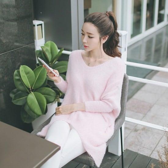 スィジュコムインリンクルブイNT香織ニットオンバル・ニットブイネク・ニットルーズフィットニット ニット/セーター/ニット/韓国ファッション