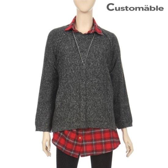 カスタムのエイブルカスタムのエイブルボカシナグランワイド小売ニットC1710KN058C ニット/セーター/ニット/韓国ファッション