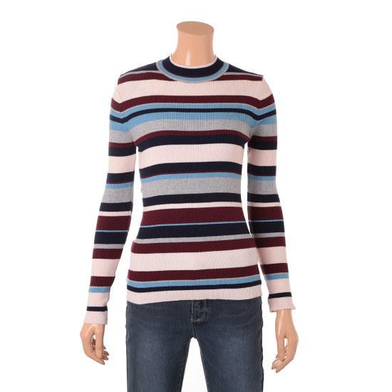 旅行、エイ、ラウンドゴルジ配色ニット2種澤クォン・スンテク1WWC802 ニット/セーター/韓国ファッション