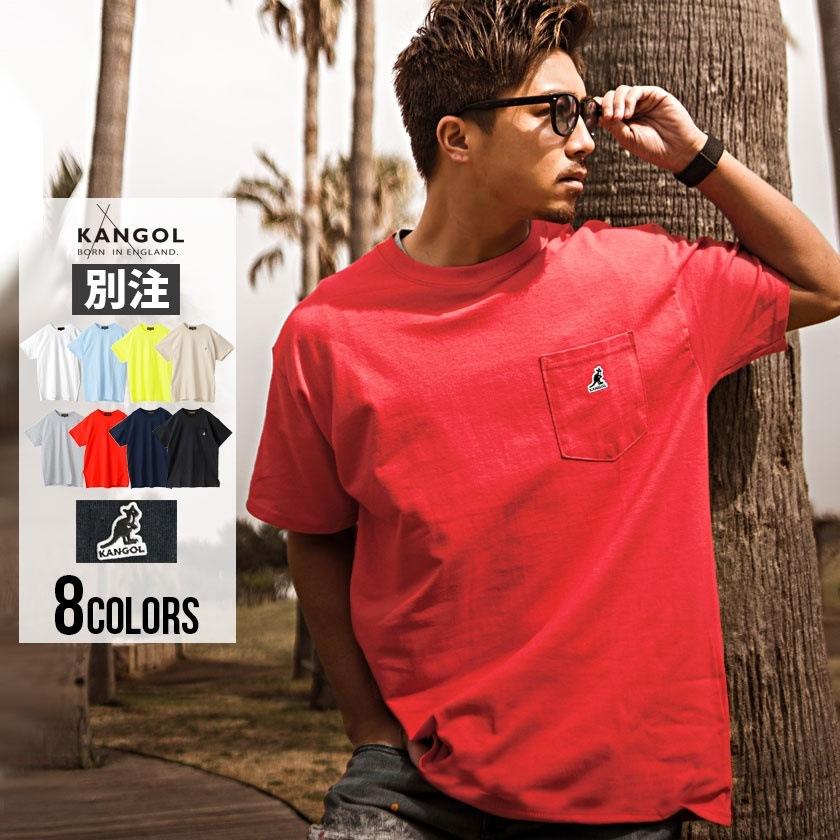 4f0dd702925 Tシャツ メンズ 半袖 ブランド 別注 KANGOL【カンゴール】別注ワンポイントクルーネック半袖