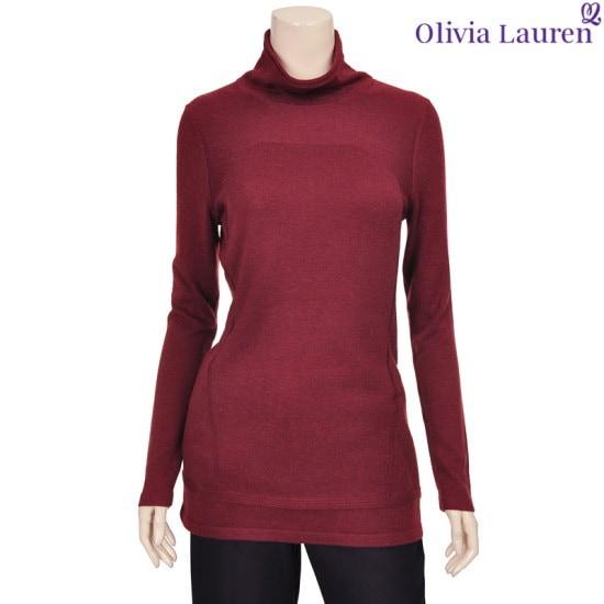 オリビアローレンシンプルベーシックポーラ・ニットVOBBLSW941115 ニット/セーター/タートルネック/ポーラーニット/韓国ファッション