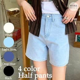 dp4105【wansmall】4カラーハーフデニムパンツ💙この春夏の流行アイテムハーフデニムパンツ!/韓国ファッション/韓国コーデ