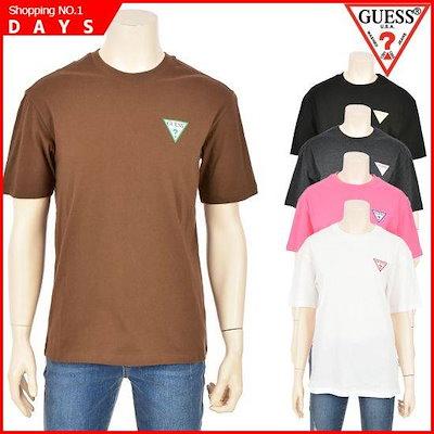 [ゲス()]ユニゲス胸三角カルラプリントセミオーバー半袖ティー(NJ2K0348) /プリントTシャツ/キャラクターTシャツ/韓国ファッション