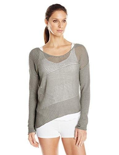 prAna Womens Liana Sweater, Silver, Large