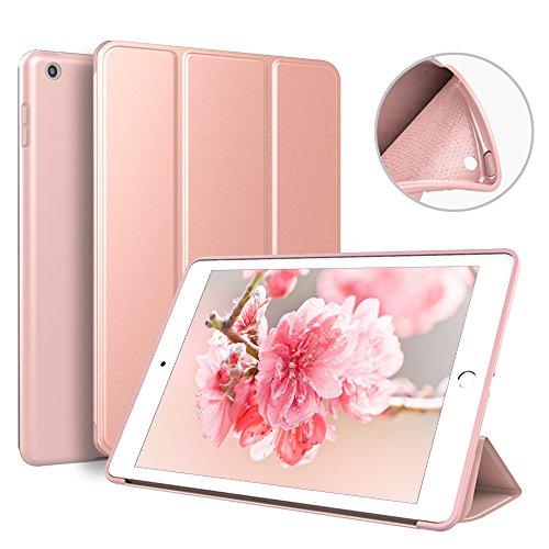 KenKe 新型 iPad 9.7 インチ 2017/2018 ケース 超軽量 柔らかいシリコン PU材質カバー 3段階折り畳み可 スタンド マグネット付き 自動スリープ機能 A1822 A1823