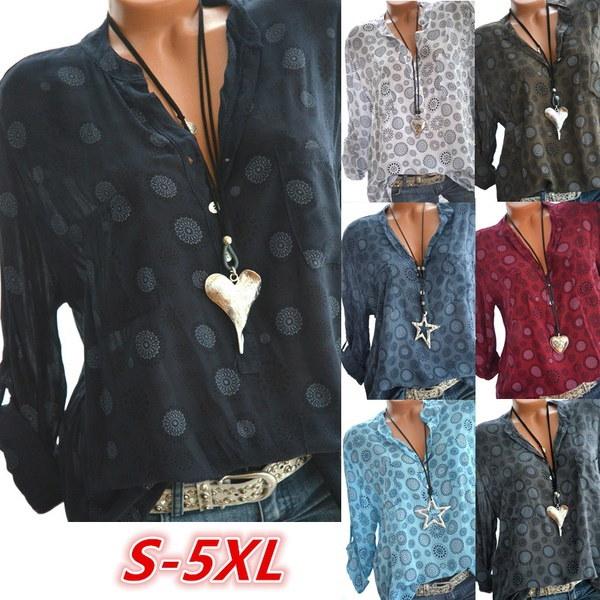 セクシーな女性のジーンズVネックカジュアルブラウス(ポケット付き)Ture-down Collar WashedデニムTシャツ