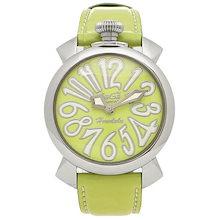 ce37ceb084 ガガミラノ 時計 GAGA MILANO 5020.LEHO3 MANUALE マヌアーレ 40MM レディース腕時計ウォッチ ライトグリーン/