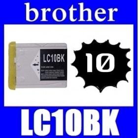 <あすつく対応>Brother(ブラザー) LC10BK ブラック 互換品インクカートリッジ