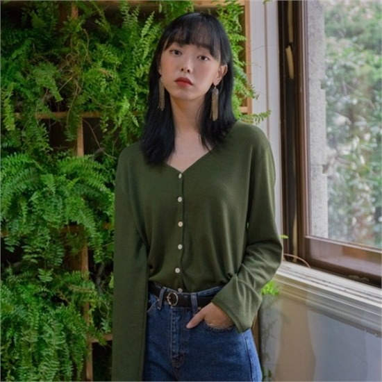 メスミン行き来するようにメスミンホーリーブイネク・ニットカディゴン5color ニット/セーター/ニット/韓国ファッション