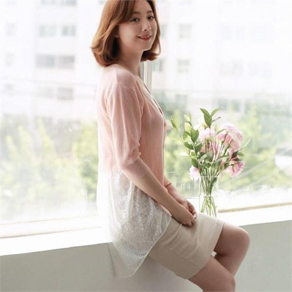 テールレース7部カディゴンJCD007 new 女性ニット/カーディガン/韓国ファッション