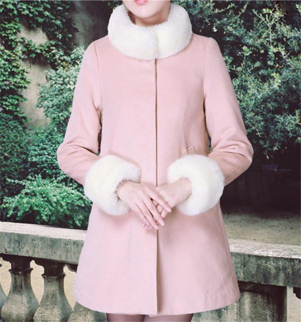 ジャケット 無地 秋新作 ファッション ひも付き フリース スリム  コットン スイート スクール ツイードジャケット
